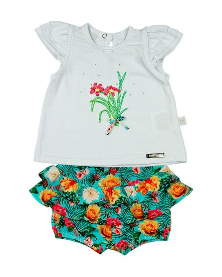 Roupa-Bebe-Conjunto-Cotton-e-Malha-Estampa-Digital-Tropical-Flores-Branco-13302