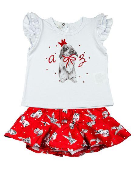 Roupa-Infantil-Conjunto-Cotton-e-Tricoline-Tarsila-Estampa-Coelho-Vermelho-23306