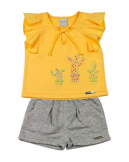 Roupa-Infantil-Conjunto-Malha-e-Moletinho-Cactos-Amarelo-23601