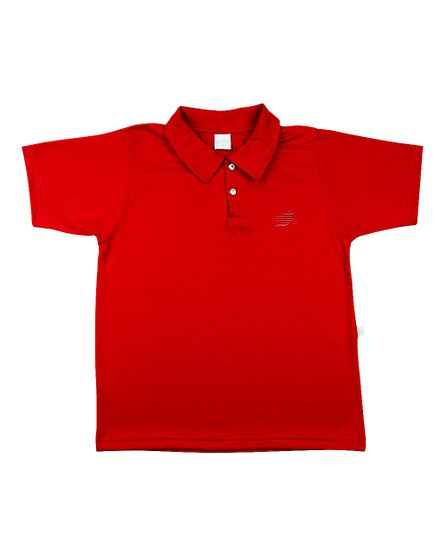 Camiseta-Infantil-Meia-Malha-com-Gola-Vermelho-24622