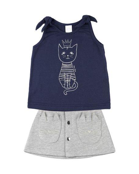 Conjunto-Infantil-Menina-Cotton-e-Moletom-Trend-Gatinha-Marinho-23307