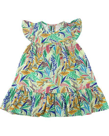 Vestido-Infantil-Tricoline-Estampa-Digital-Folhas-Coloridas-Verde-23703