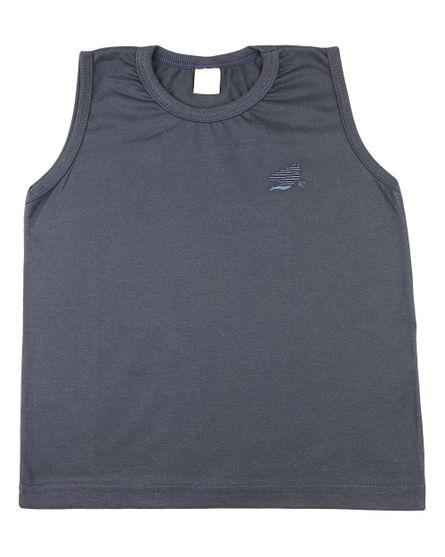 Camiseta-Infantil-meia-Malha-Manga-Cavada-Basica-Marinho-24626
