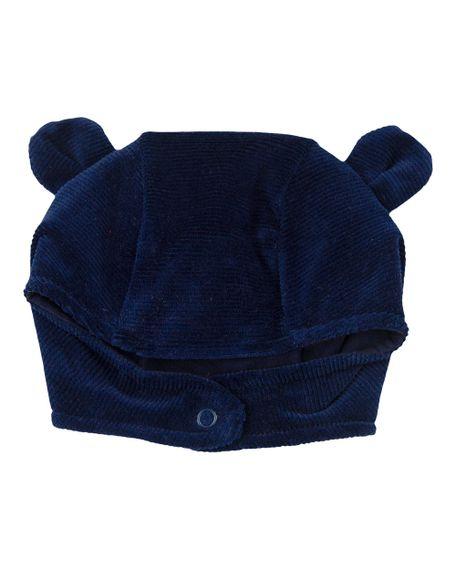 Touca de Bebê Plush Ondulê Orelhinhas - Marinho XGG