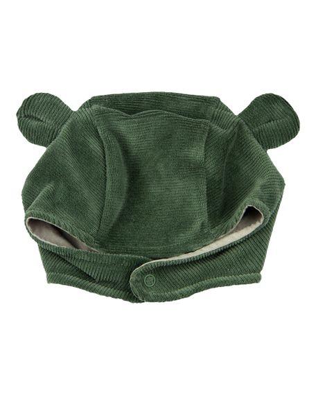 Touca de Bebê Plush Ondulê Orelhinhas - Verde P