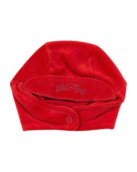 Touca-de-Bebe-Unisex-com-Protetor-de-Orelhinha-Vermelho-19243