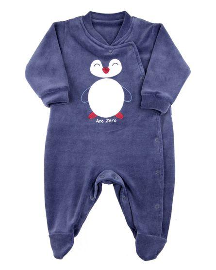 Macacao-Bebe-Plush-Liso-Pinguim-Azul-Jeans-11261