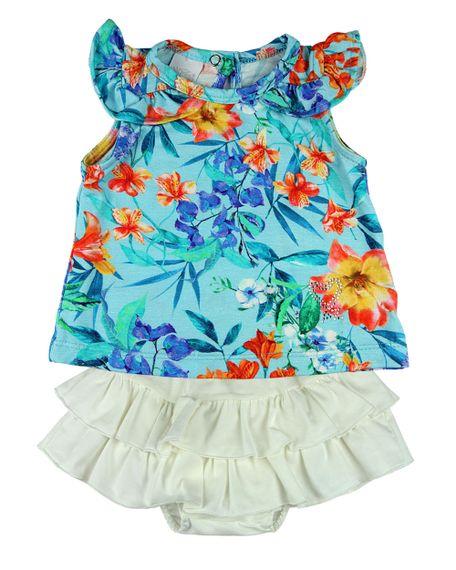 Conjunto-Bebe-Menina-Viscolycra-Estampada-Floral-e-Shorts-Saia-Cotton-Turquesa-13910