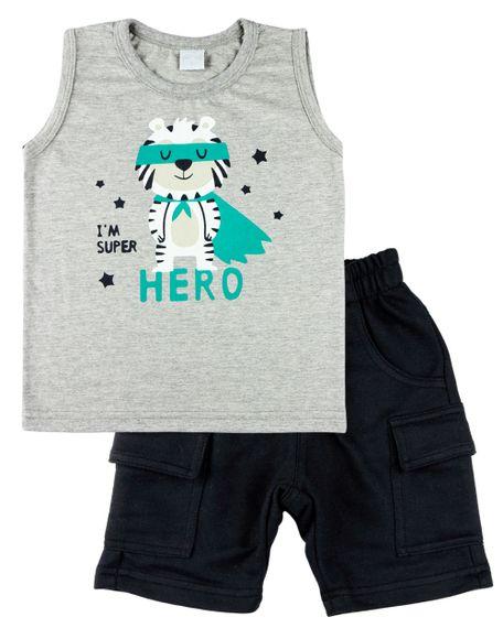 Conjunto-Infantil-Menino-Meia-Malha-e-Moletinho-Tigre-I-m-Super-Hero-Grafite-22605