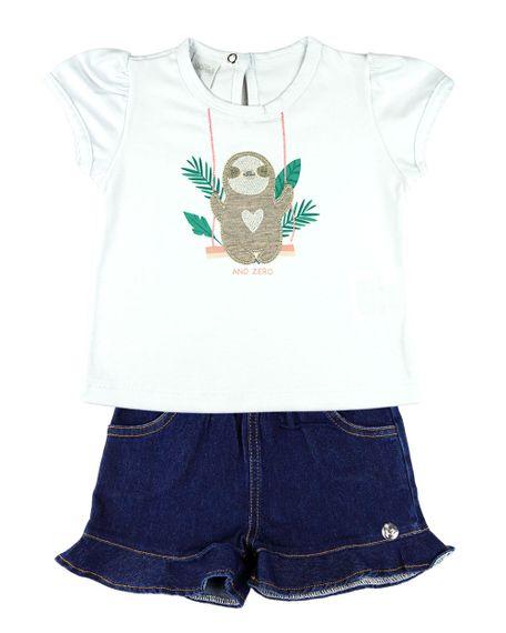 Conjunto-Infantil-Menina-Cotton-e-Indigo-Stone-Washed-Bicho-Preguica-Branco-23310