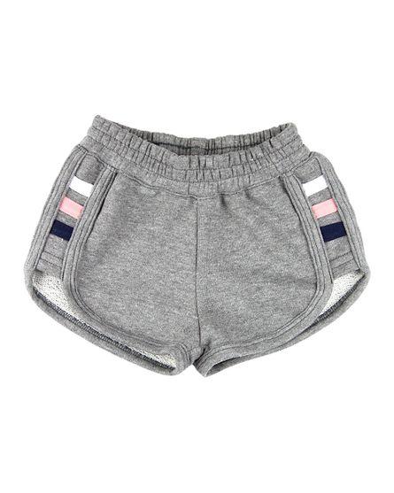 Shorts-Infantil-Menina-Moletinho-com-3-Listras-Grafite-25217