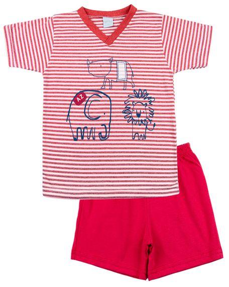 Pijama-Infantil-Menino-Malha-Listrada-Silk-Rinoceronte-Elefante-e-Leao-Vermelho-27804