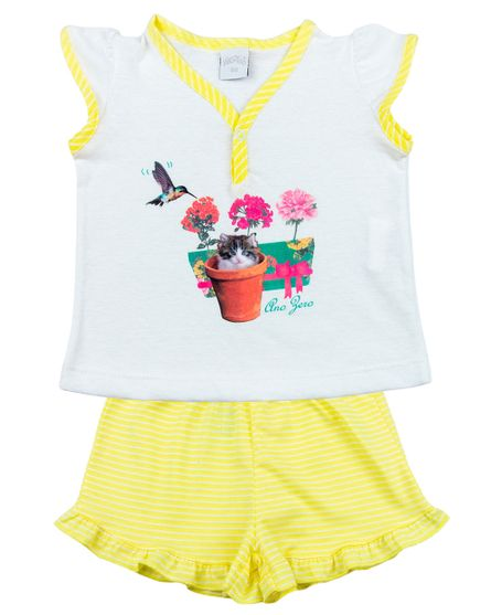 Pijama-Infantil-Menina-Malha-Lisa-e-Listrada-Beija-Flor-e-Gatinho-Amarelo-27805