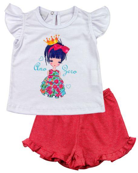 Pijama-Infantil-Meia-Malha-Poa-Menina-de-Coroa-Vermelho-27501