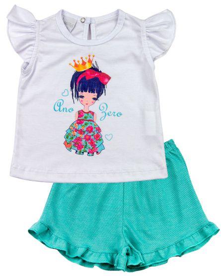 Pijama-Infantil-Meia-Malha-Poa-Menina-de-Coroa-Verde-27501
