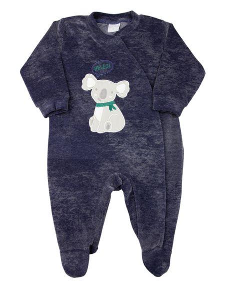 Macacao-Bebe-Plush-Jeans-Laserwash-Urso-Coala-Marinho-11544