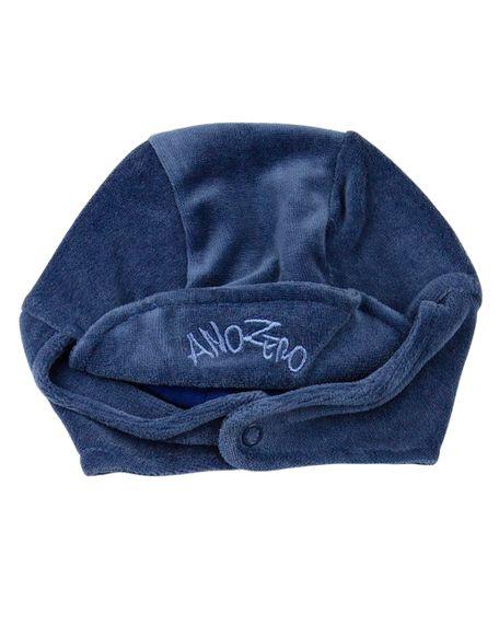 Touca de Bebê Unisex com Protetor de Orelhinha - Azul Jeans G