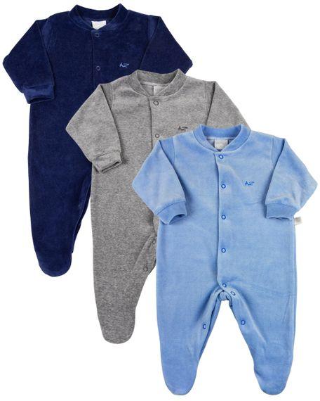 Macacao-Bebe-Plush-Kit-3-Pecas-Basicas-Pijama-Bebe-Menino-Azul-17000