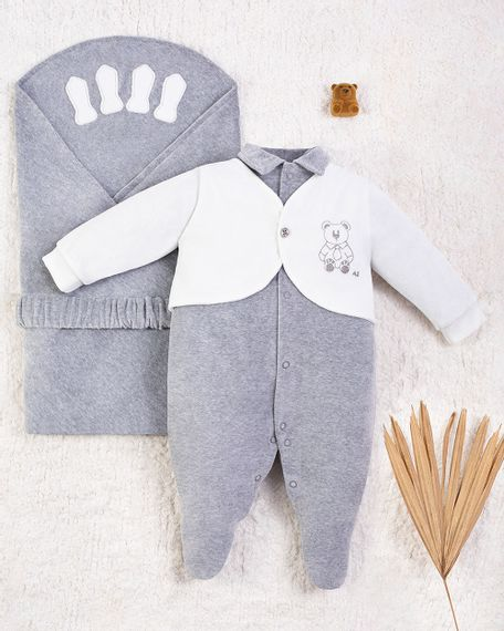 Saida-Maternidade-Menino-Plush-Ursinho-de-Gravata-Mescla-10005