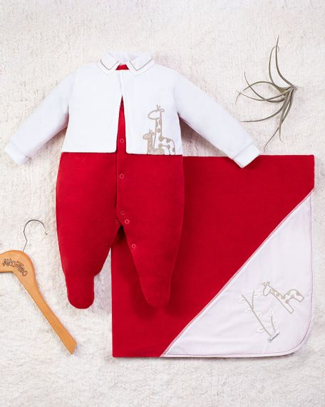 Saida-Maternidade-Menino-Plush-2-Girafas-Vermelho-10006