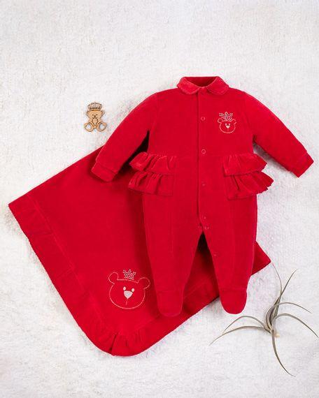 Saida-Maternidade-Menina-Plush-Bordado-Ursinha-Rainha-Vermelho-10007