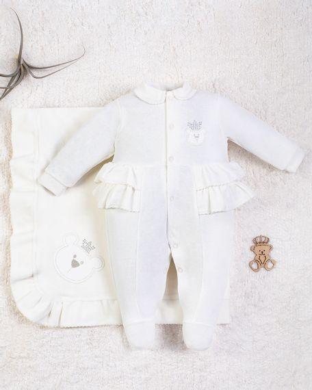 Saida-Maternidade-Menina-Plush-Bordado-Ursinha-Rainha-Natural-10007