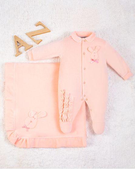 Saida-Maternidade-Menina-Plush-Bordado-Coelhinha-Rose-10009
