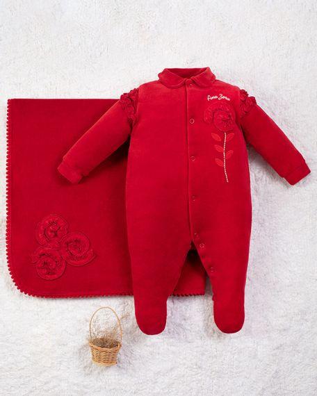 Saida-Maternidade-Menina-Plush-Flor-Aplicada-Vermelho-10010