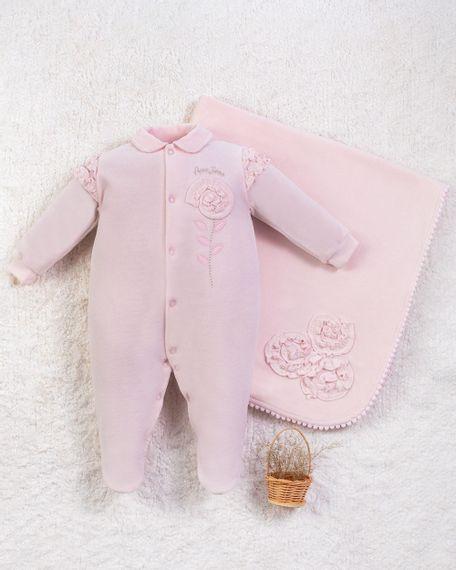 Saida-Maternidade-Menina-Plush-Flor-Aplicada-Rosa-10010