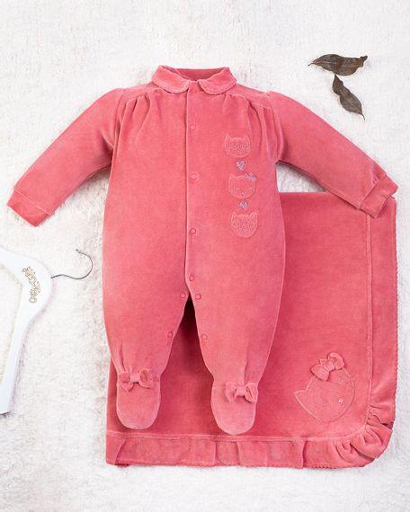 Saida-Maternidade-Menina-Plush-Bordado-Gatinhas-Marrom-10011