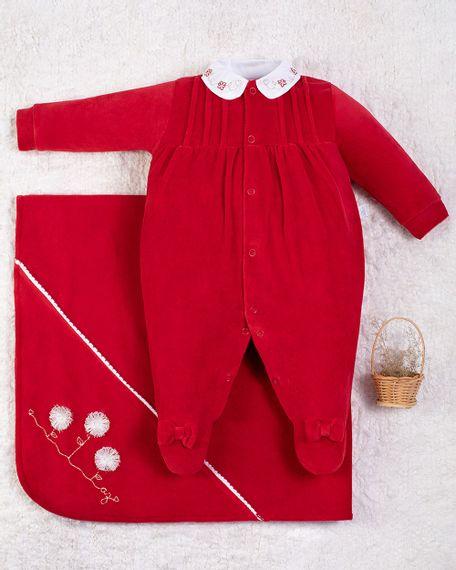 Saida-Maternidade-Menina-Plush-Golinha-Bordada-Flores-Vermelho-10012