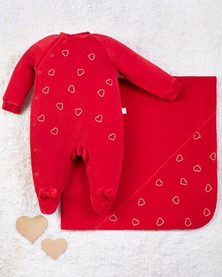 Saida-Maternidade-Menina-Plush-Bordado-Coracoes-Vermelho-10013