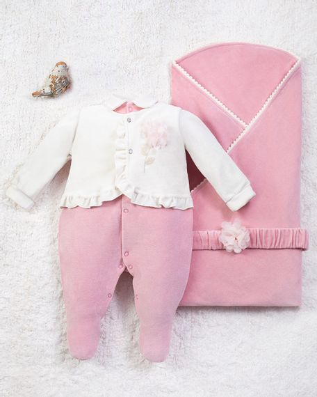 Saida-Maternidade-Menina-Plush-Flor-Aplicada-Salmao-10014