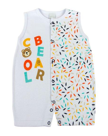 Macacao-Curto-Bebe-Suedine-Ursinho-Cool-Bear-Branco-10119