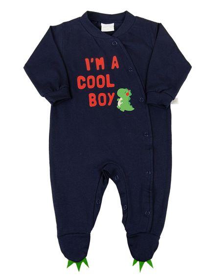 Macacao-Bebe-Cotton-Longo-Silk-Dino-I-m-a-Cool-Boy-Marinho-11311