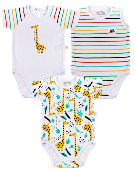 Kit-Body-Bebe-Unisex-Suedine-Estampado-Girafas-Branco-17120